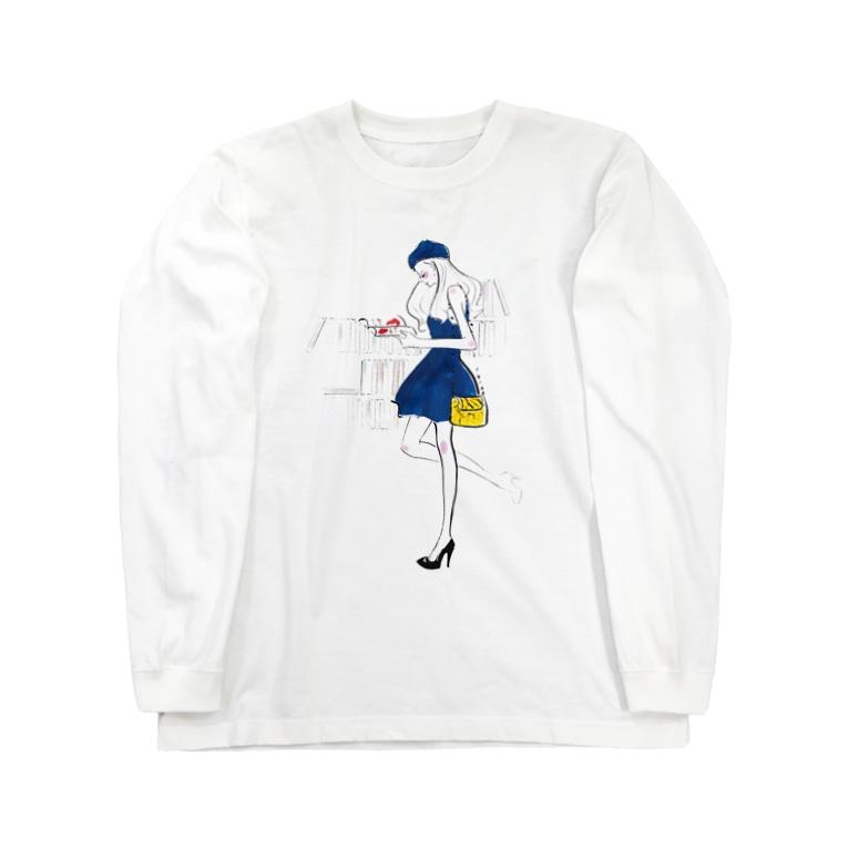 Jojo Yan   A Fashion Illustratorのこの本が好き Long sleeve T-shirts