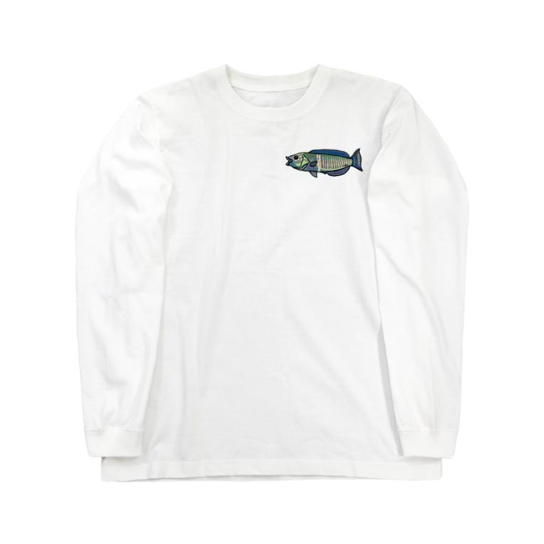 snaggedgorillaのシロタスキベラ Long sleeve T-shirts
