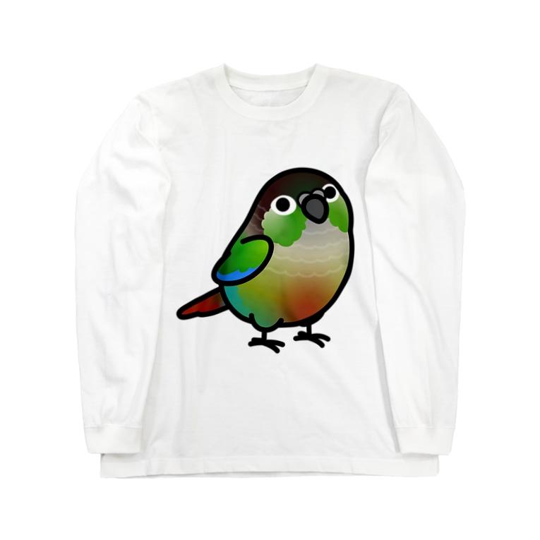 Cody the LovebirdのChubby Bird ウロコインコ Long sleeve T-shirts