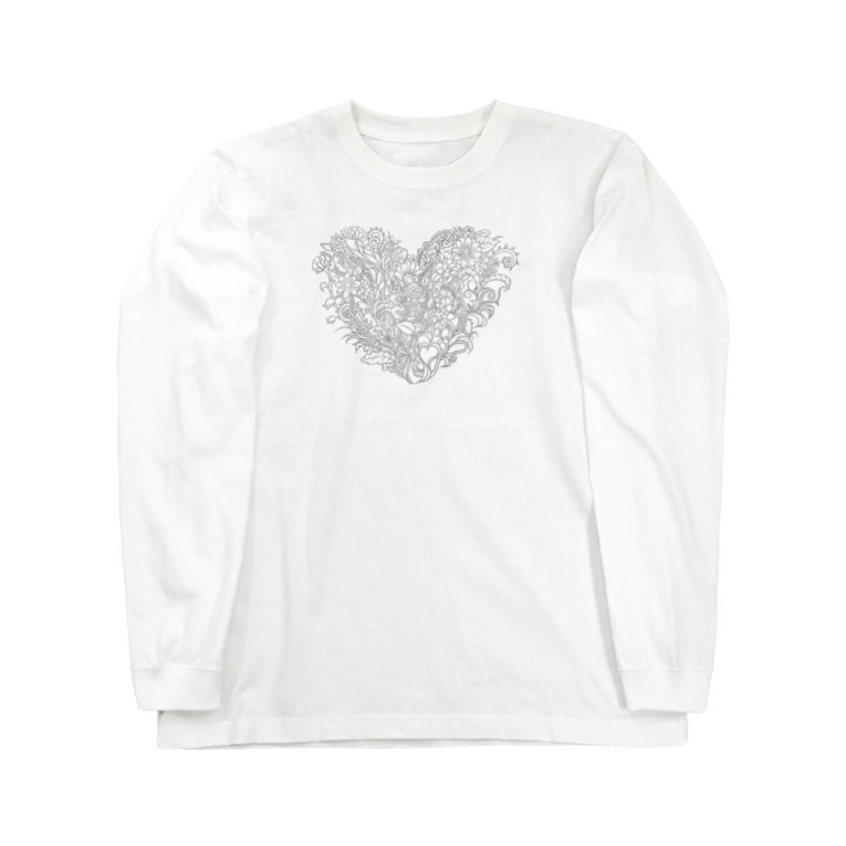 maro's POKER FACE suzuri店のBlooming Love Long sleeve T-shirts