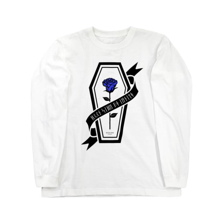 IENITY / MOON SIDEの【MOON SIDE】Rose Coffin Ver.2 #Black Blue Long sleeve T-shirts