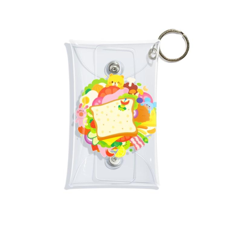 Illustrator イシグロフミカのサンドイッチ Mini Clear Multipurpose Case