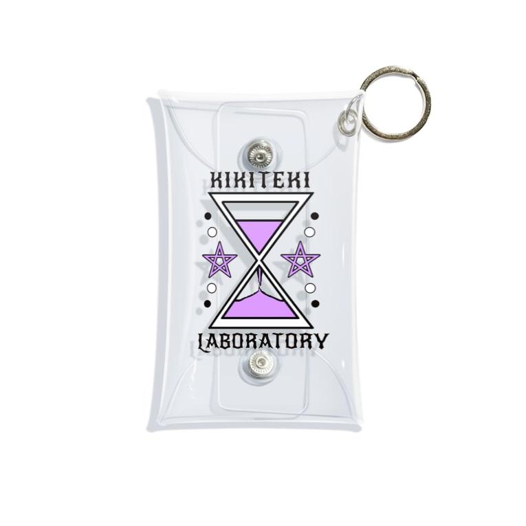 KIKITEKI_LABORATORYの砂時計 薄紫 Mini Clear Multipurpose Case