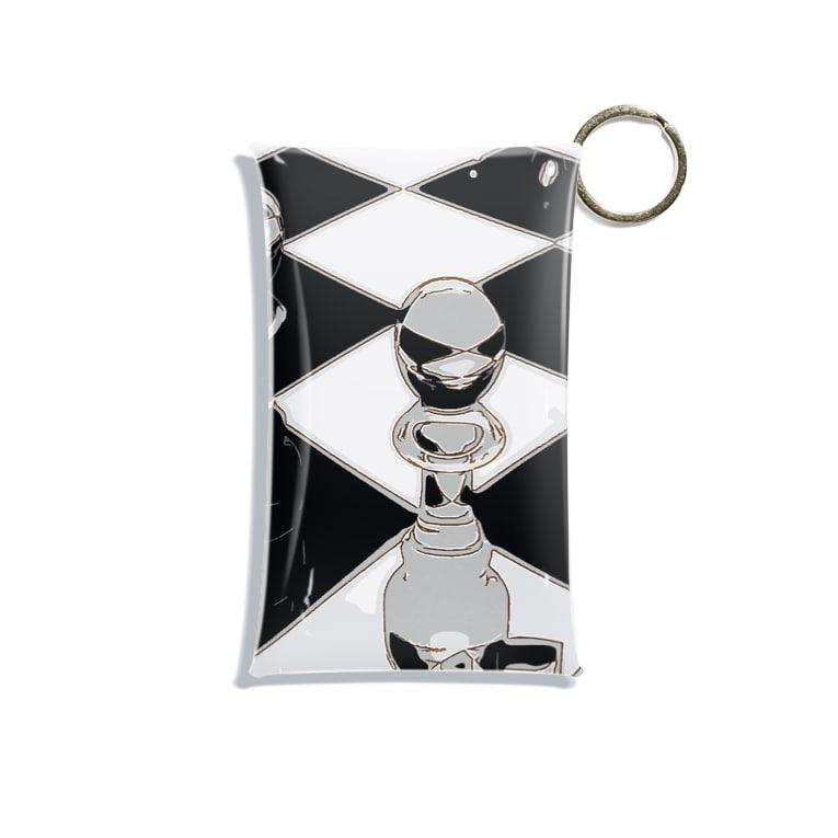 猫神楽セバルshop のチェス モノトーン Mini Clear Multipurpose Case