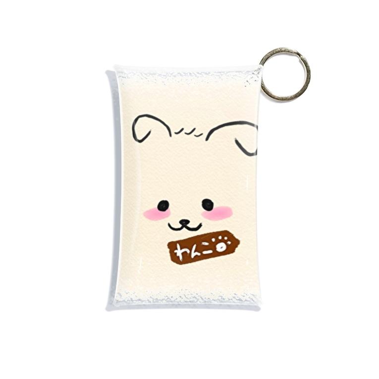 merongのわんこB♡(ブラウン) Mini Clear Multipurpose Case