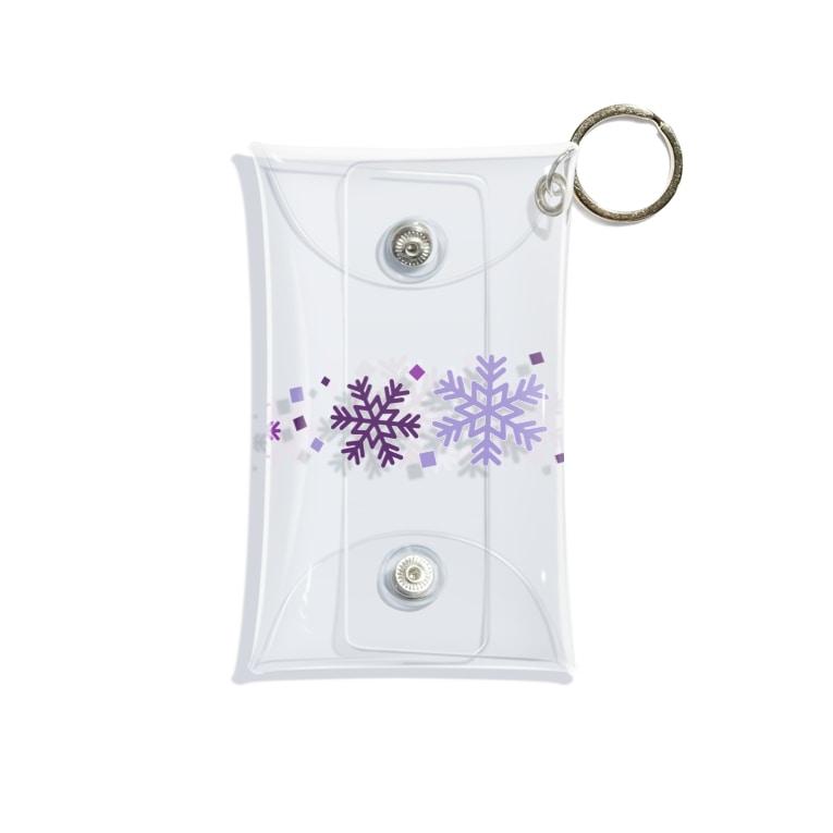 つきしょっぷの紫色の雪の結晶 Mini Clear Multipurpose Case