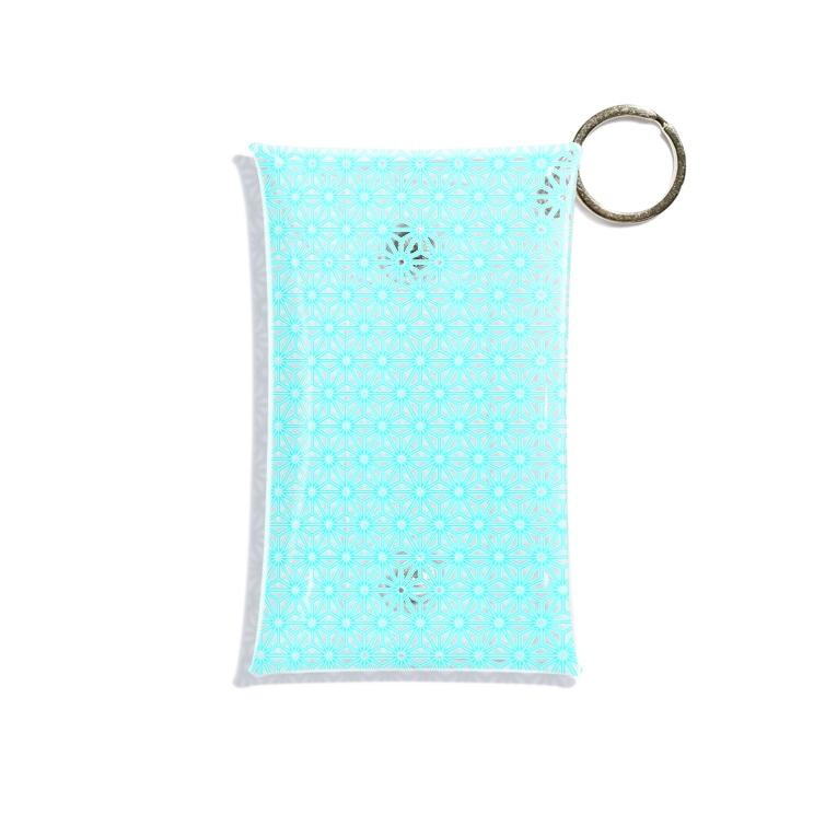 稀有の麻の葉(asanoha) Mini Clear Multipurpose Case