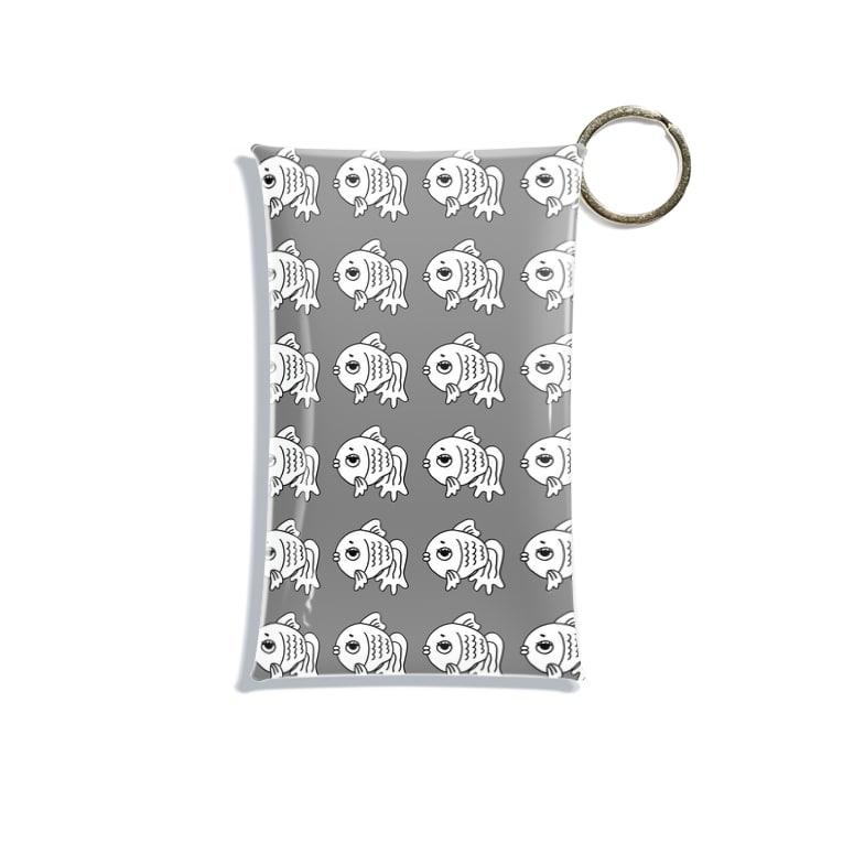 shop-rのshop-rちゃんアンニュイグレー Mini Clear Multipurpose Case