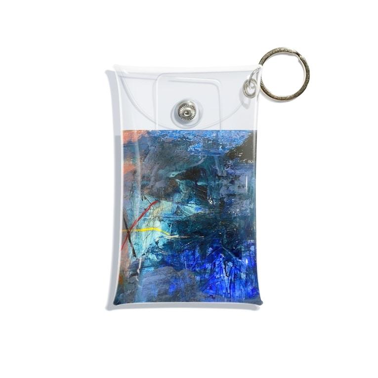 抽象画家ShizukiKagawaのマリンブルーの詩 Mini Clear Multipurpose Case