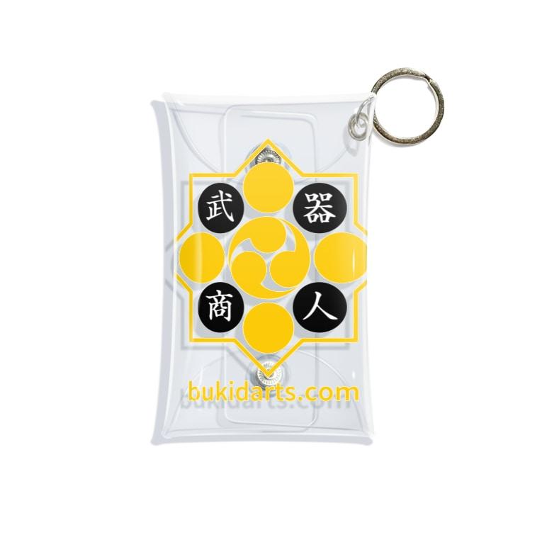 武器商人🎯ダーツのブログの武器商人ロゴ(黒) Mini Clear Multipurpose Case