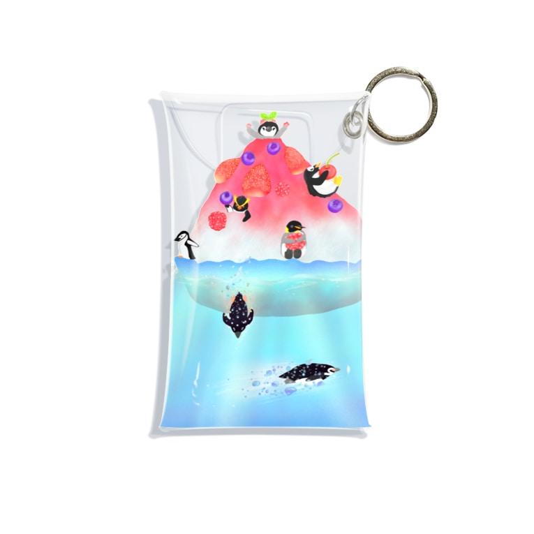 Lily bird(リリーバード)のかき氷島のペンギンたち Mini Clear Multipurpose Case