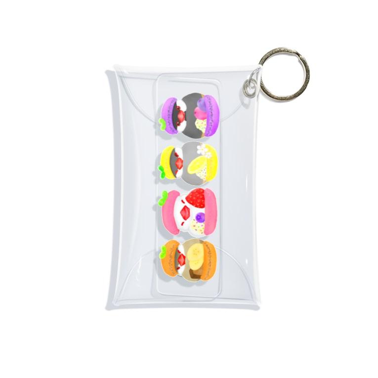Lily bird(リリーバード)のマカロン文鳥ず 縦長 Mini Clear Multipurpose Case