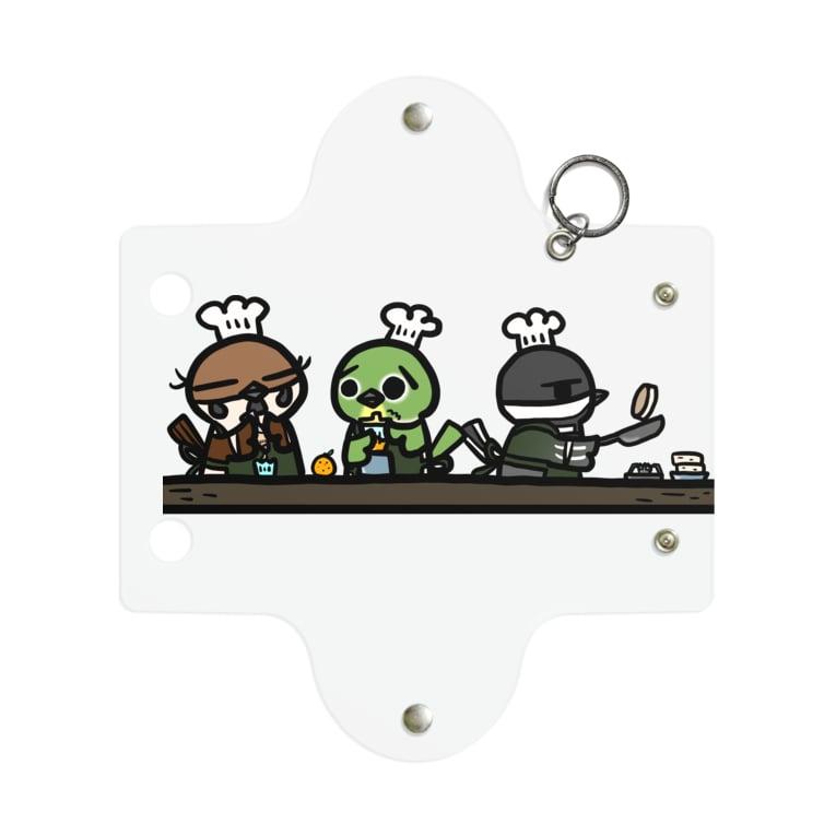 庭にくるコトリからのことり喫茶珈琲牛乳 キッチン Mini Clear Multipurpose Case