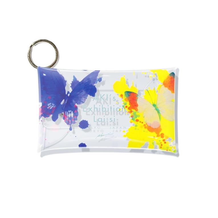 AKI ONLINE SHOP 色のある暮らしの出逢う蝶々 Mini Clear Multipurpose Case