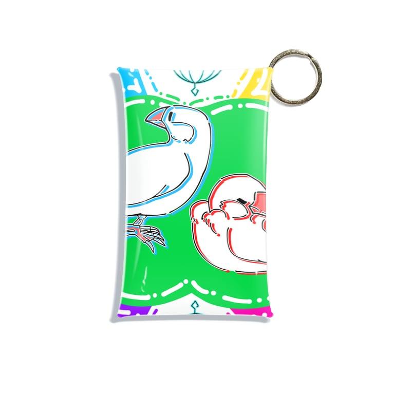TsukiIchiYarukiのスプラッシュ文鳥 Mini Clear Multipurpose Case