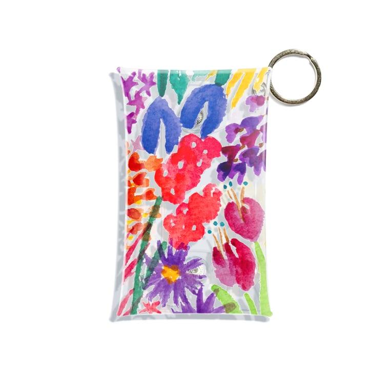 n_makiのflower Mini Clear Multipurpose Case