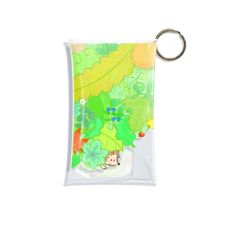 +kohの庭のハリネズミくん Mini Clear Multipurpose Case
