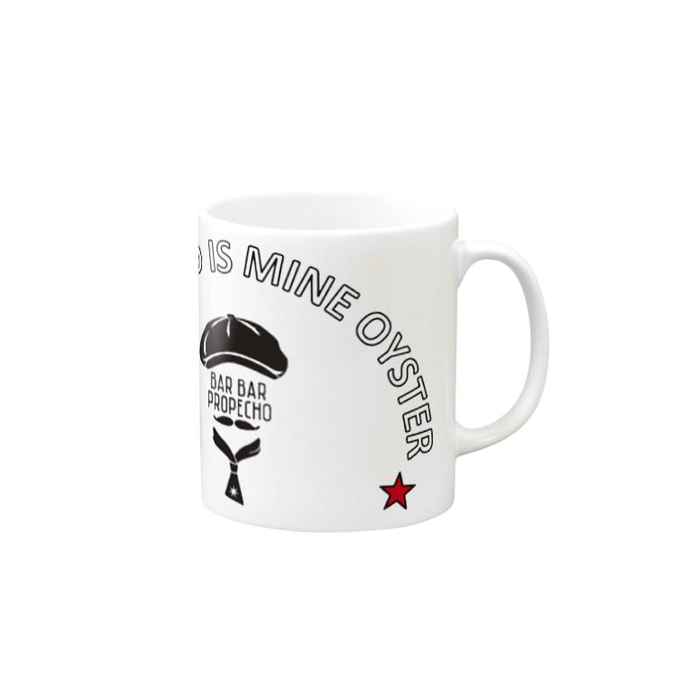 b.b propecho clothesの propecho arch logo Mugs