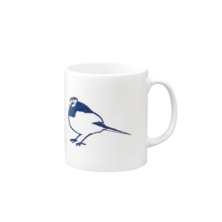 TORISUKI(野鳥・鳥グッズ)の身近な野鳥「セグロセキレイ」 Mugs