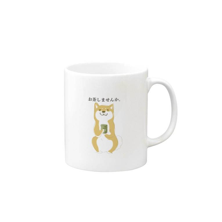hanakaの柴犬こうめ「お茶しませんか」 Mugs