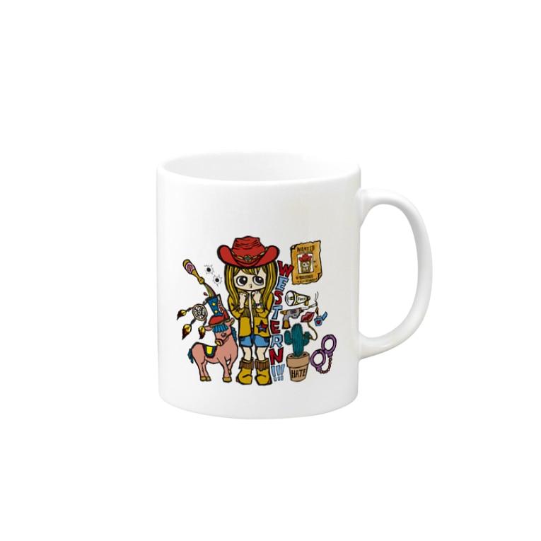 MarrowのMarrow ウエスタン マグカップ Mugs