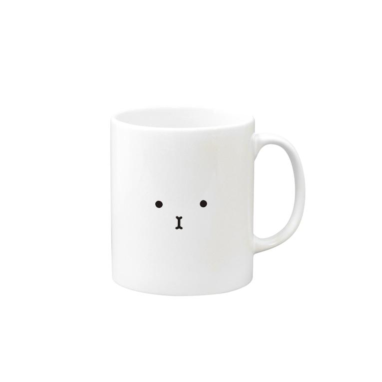 -END-のぽったりモルモット 黒線・顔Ver. Mugs