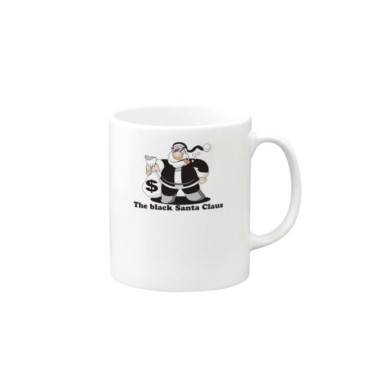 川野隆司のBLACK SANTA Mugs