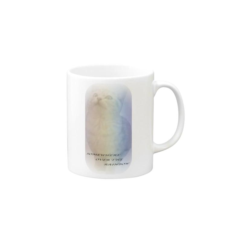 ちばっちょ【ち畳工房&猫ねこパラダイス】のレインボーキャット Mug