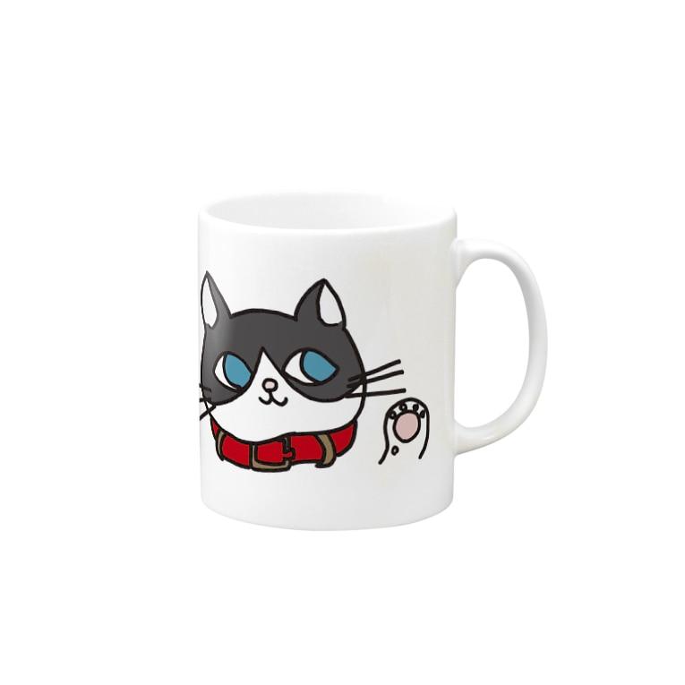 フトンナメクジのみゅうみゅうフェイス - miumiu face Mugs