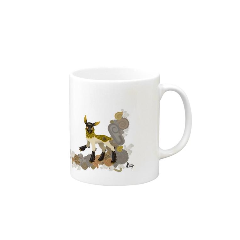 黒江リコのアンモナイトと羊 Mugs