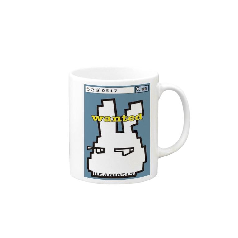 うさぎ0517のうさぎ0517★WANTED水色 Mugs