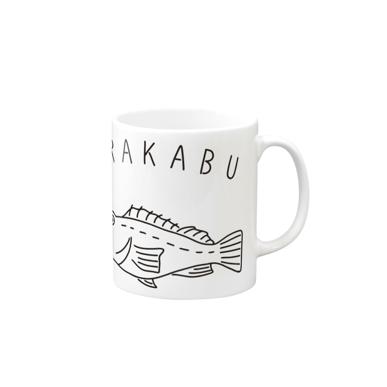Aliviostaのアラカブ カサゴ ゆるい魚イラスト 釣り 長崎 Mugs
