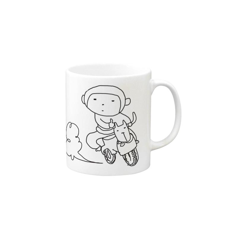 YuwarurE【ユワルレ】のわるさるさ Mugs