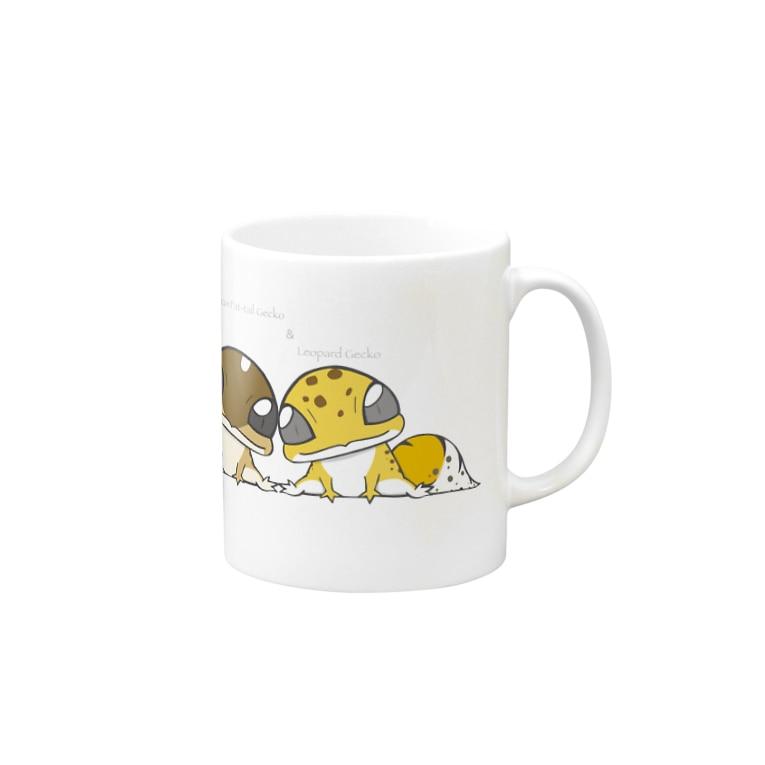 ぴよのカエル屋さんのニシアフ&レオパ Mugs