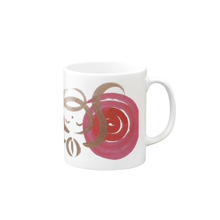 🍀森葉子グッズ🍀のお守り絵「ほっとけさん」透過2 Mugs