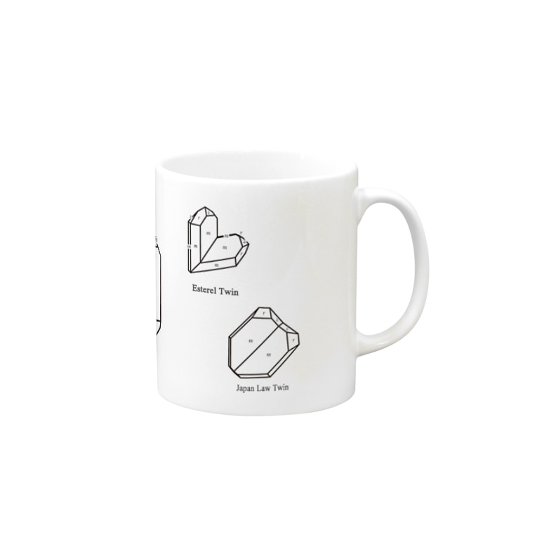 クリスタルポケットの鉱式-RECTANGLE.crystallogram6.1black-Quartz_twin_variety Mugs