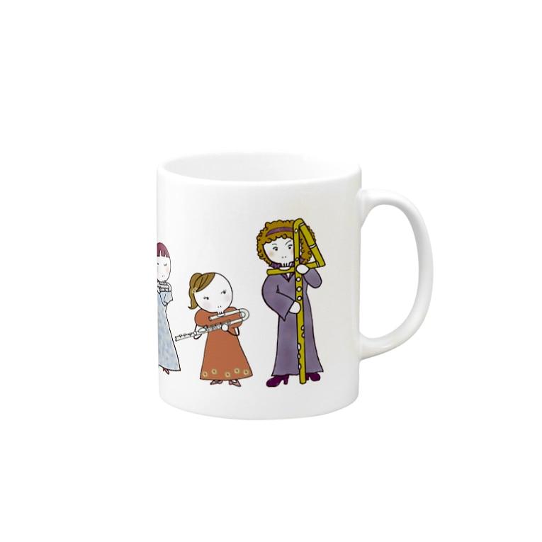 ミナミハチゴーのフルートファミリーwithアフロ女子 Mugs