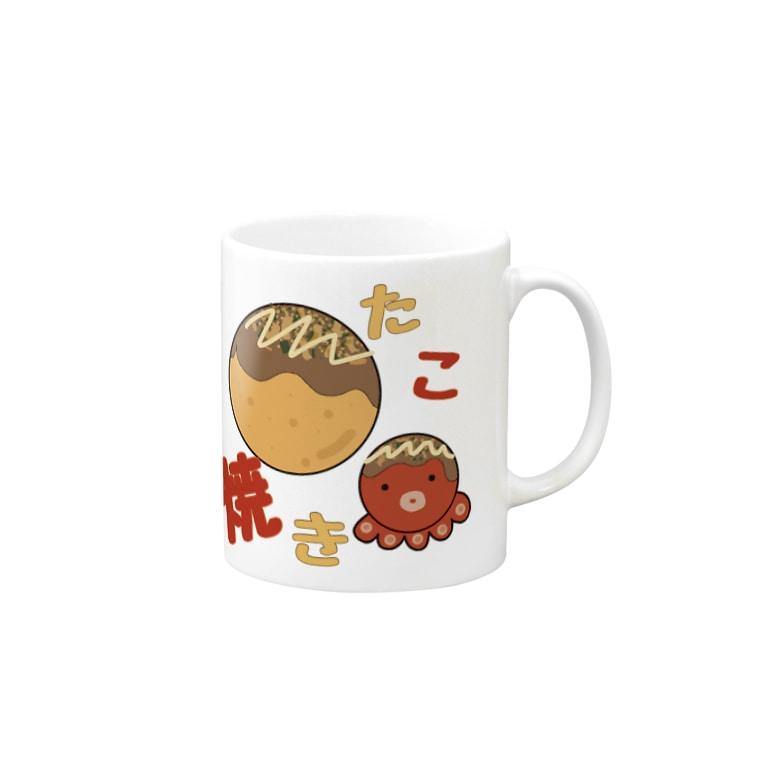 Yuuのyuuオリジナルイラスト14 たこ焼き Mugs