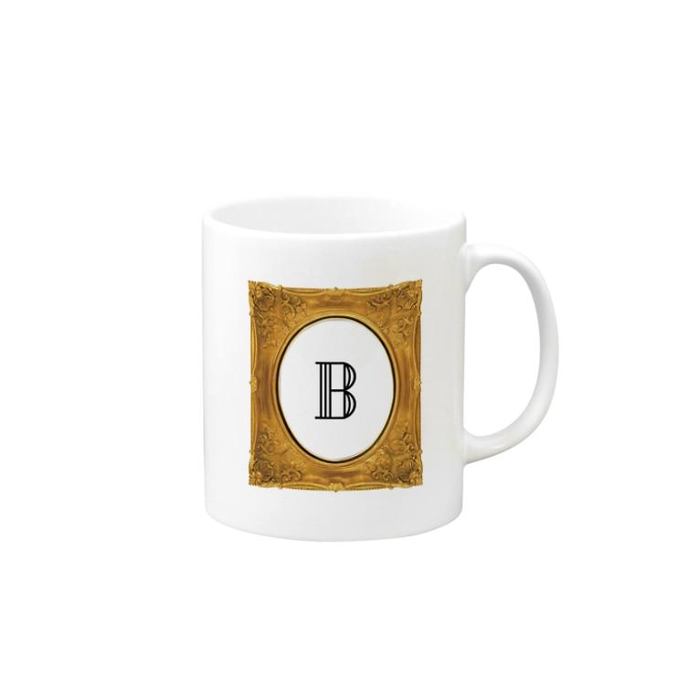krakatukのkrakatuk額入イニシャル'B' Mugs