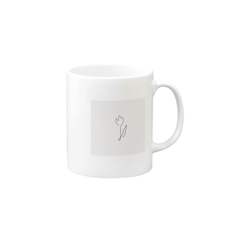 rilybiiの線画チューリップ*pink Mugs