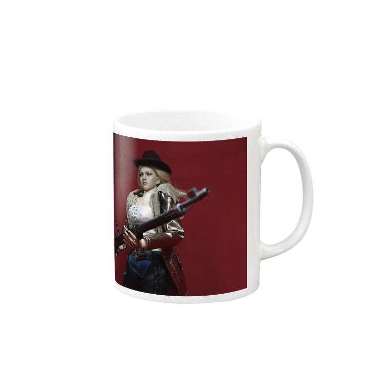 FUCHSGOLDのドール写真:ブロンド美女のスナイパー Doll picture: Blonde sniper Mugs