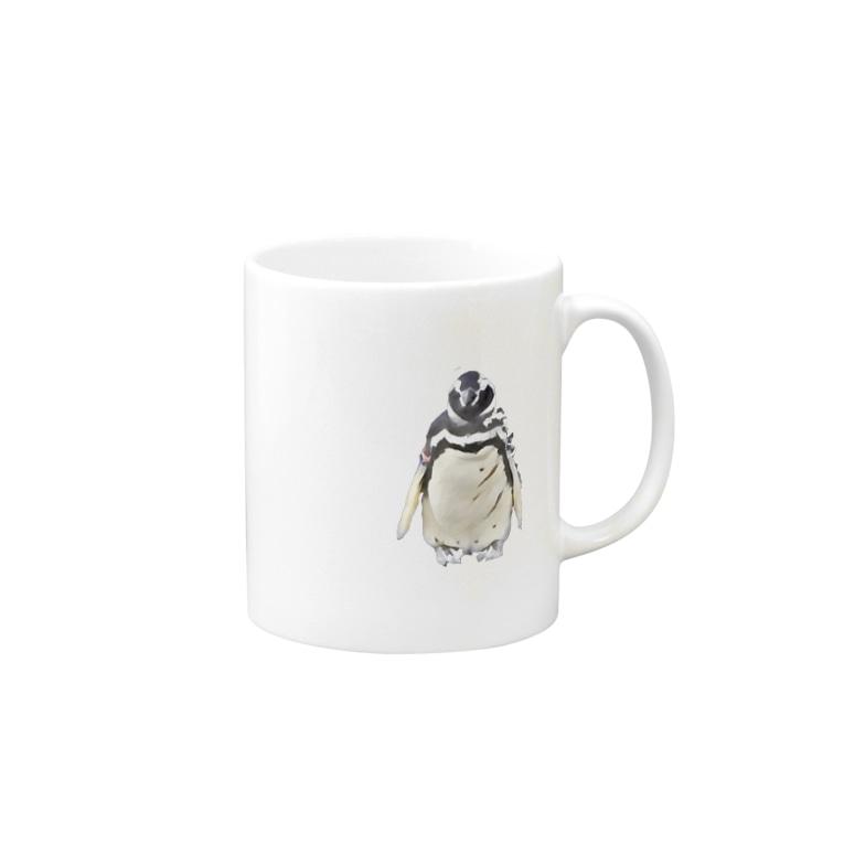 こはくさんとぺんぎんのリアルカクカクペンギン Mugs