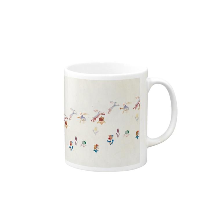 KAERUCAFE SHOPのうさぎ Mugs