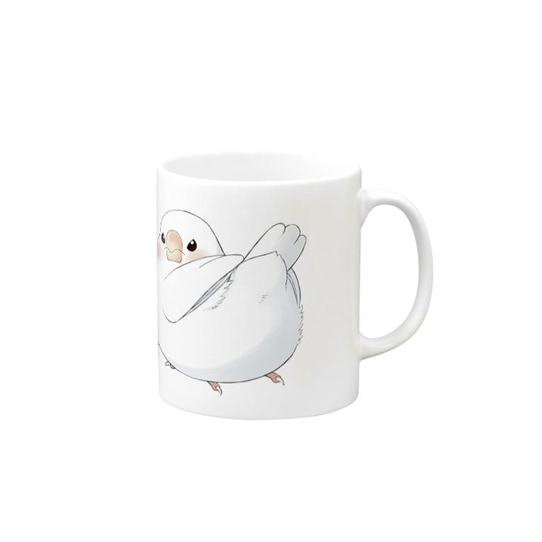 Dear Nina(文鳥中心)の挑戦的な文鳥 Mugs