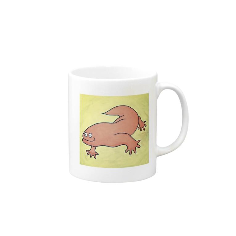 ケンタッキーひよこくんのにくとかげ Mugs