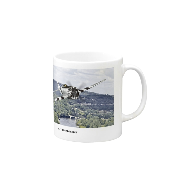kazu Aviation ArtのP-47 サンダーボルト Mugs