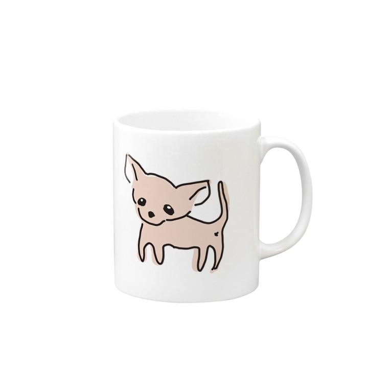akane_artのゆるチワワ(ピンク) Mugs