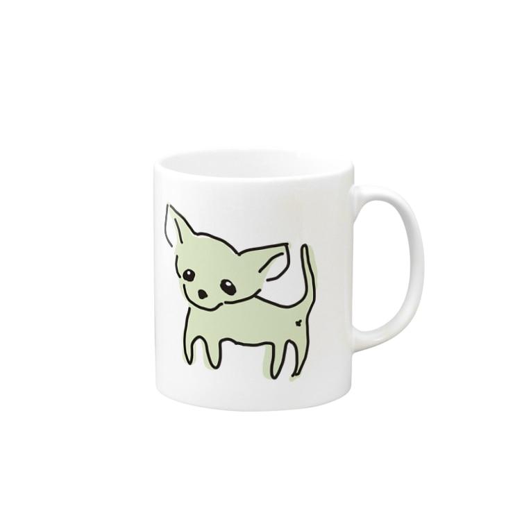 akane_artのゆるチワワ(グリーン) Mugs