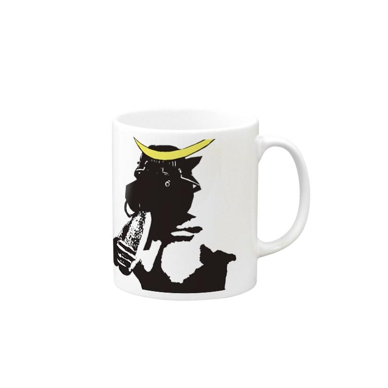 Danke Shoot Coffeeの頭だけ間に合った仙台のレイヤー Mugs