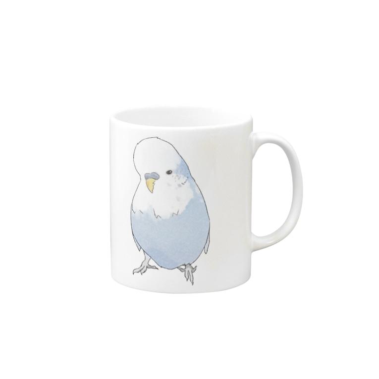 まめるりはことりの可愛いジャンボセキセイインコ【まめるりはことり】 Mugs